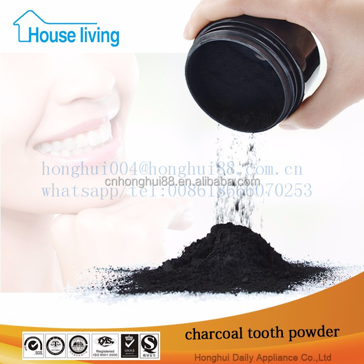 FDA approved private label dental paste oem black organic teeth whitening mint flavour activated coconut bamboo charcoal powder