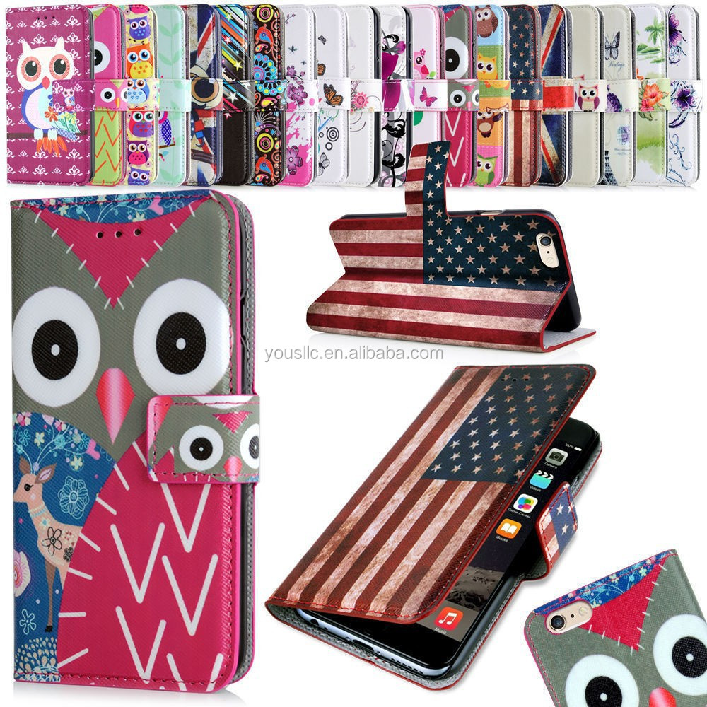 2015 new wholesale hot selling Leather wallet mobile phone case cover for lenovo s820