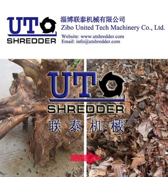 High Efficiency low nosie Single Shaft Shredder / wood shredder / timber shredder /tree root shredder / One Shear Crusher