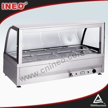 8 Pan Hot Food Display/Food Warmer Bain Marie (INEO are professional on commercial kitchen project)