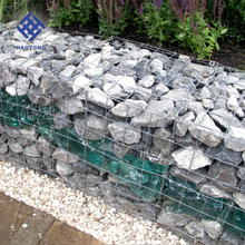 Factory supply square hole shape pvc coated welded hexagonal gabion basket/gabion
