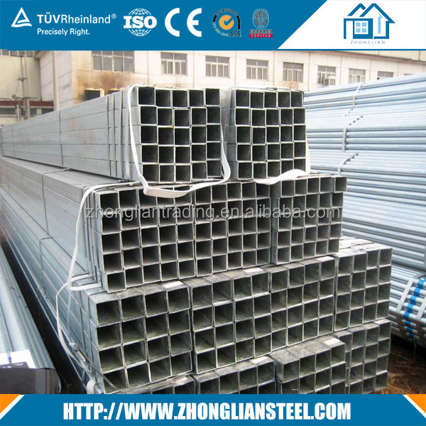 Hot Dipped Galvanized Mild 888 square steel tube