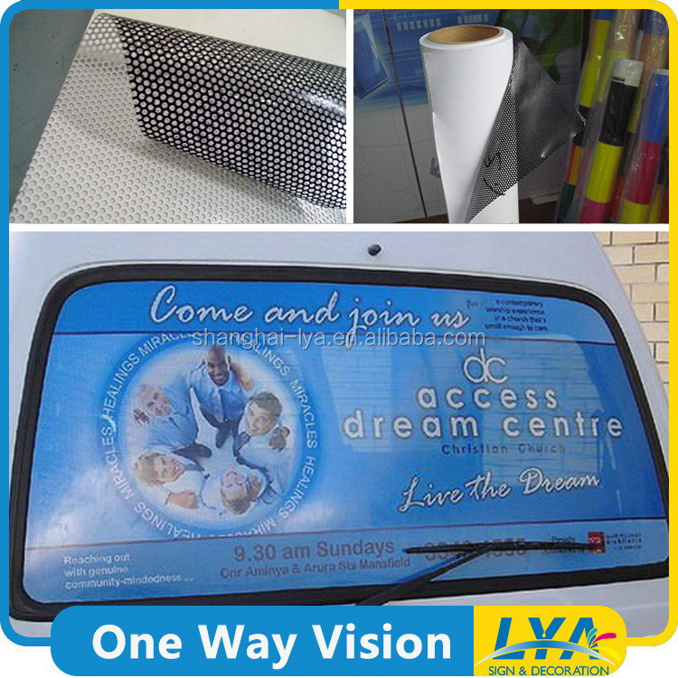 China manufacturer crazy selling removable clear glue one way vision