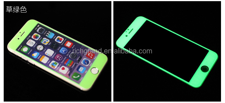 Romantic Fluorescent Glowing in The Dark Full Cover Screen Protector for iphone
