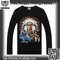 Zhejiang Yiwu Printing Factory 100% cotton long sleeve Indian printing designer men's clothes