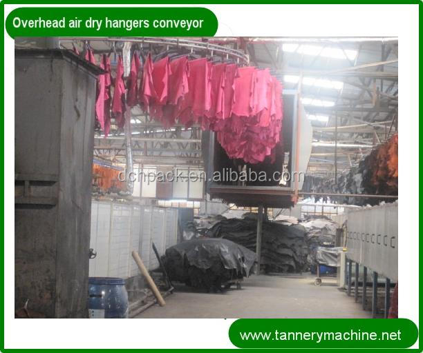leather dryer 800 to 3000mm steel overhead chain conveyor hangers for leather
