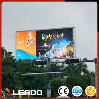 Shanghai factory special discount outdoor p6 smd multi-line led billboard