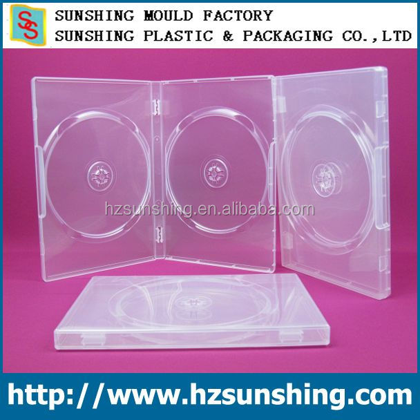 hard plastic CD DVD case,14mm dvd case clear PP