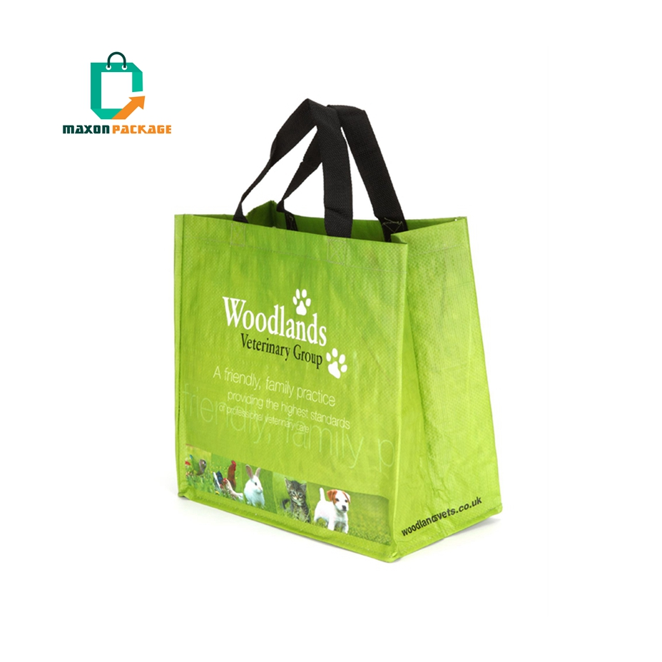 China manufacturer Heavy Duty Fabric Reusable Laminating Tote Carry Non Woven Shopping Bags With Custom Logos Printed