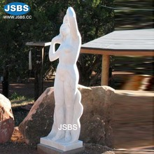China Manufacture Carved White Marble Naked Sex Girl Statue