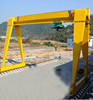 MH type single Girder electric mobile hoist ourdoor gantry used hook crane travel lift