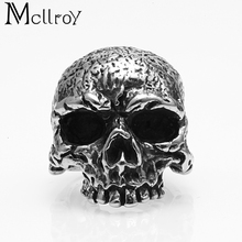 Mcllroy 2018 Wholesale Customized Gothic Vintage Hip-pop Engagement rings Big eyes cool skeleton design Men titanium ring