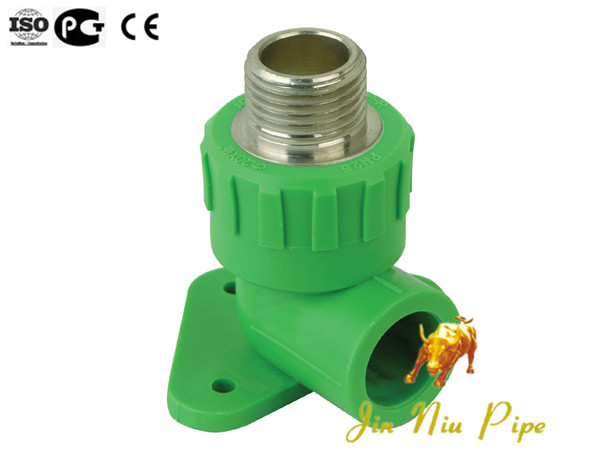 Good Quality JINNIU PPR female threaded elbow with disk