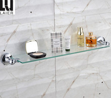 Euro style zinc chrome bathroom accessories set glass shelf 20037-2