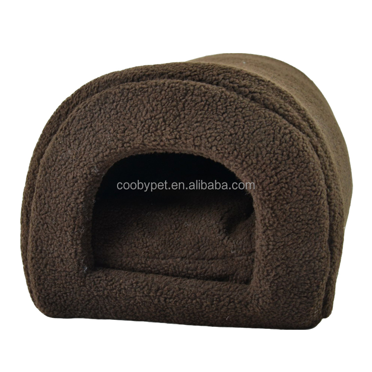 Low MOQ New Design soft indoor dog house bed