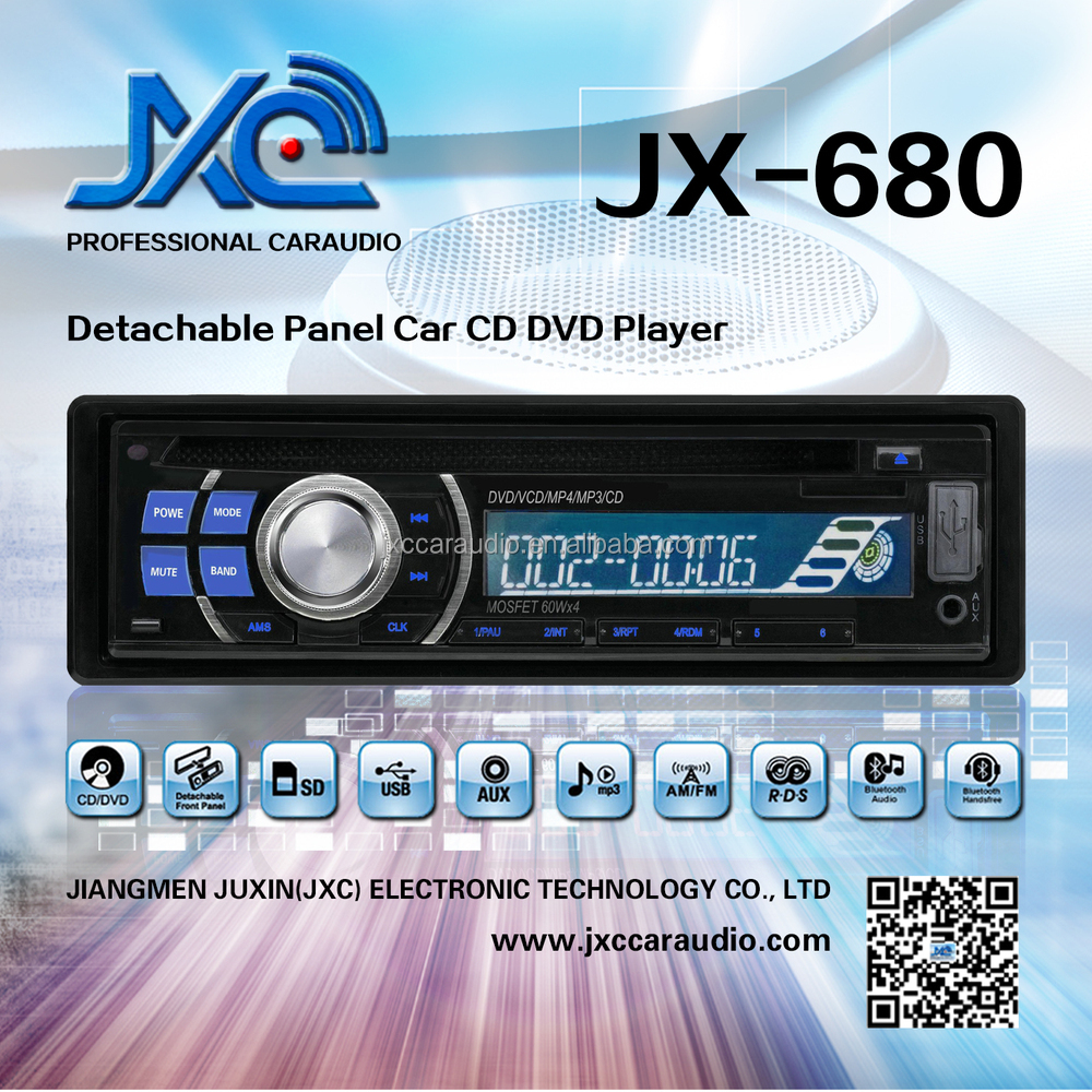 JXC--680 dvd car with anti-theft detachable panel