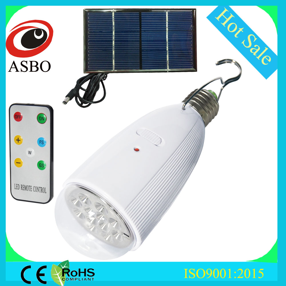 Cheap led bulb price Solar led magic bulb with remote control