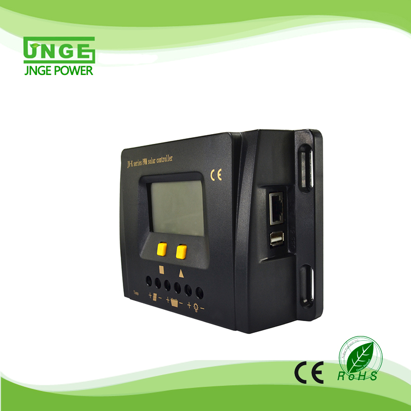Anhui JNGE Power Large 24V LCD Display PWM Charing 30A PV Solar Regulator