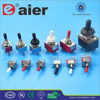 Daier 8 pin plastic chrome toggle switch
