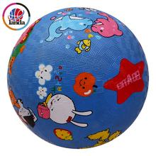 7 inch soft touch high bouncy custom colorful inflatable rubber playground ball