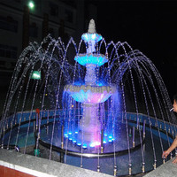 Garden Water Fountain Or Public Park