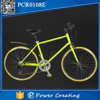 Powercreating Steel Frame Material and Aluminum Rim Material 24 inch road bicycle