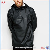 China Suppliers High Quality Men Fashion Winter Custom Overhead Hoodies Man Waterproof Rain Jackets Coat