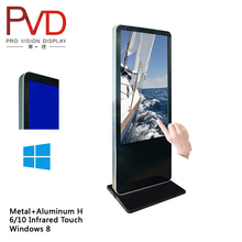 "46"" Floor Standing Interactive kiosk advertising display stand"