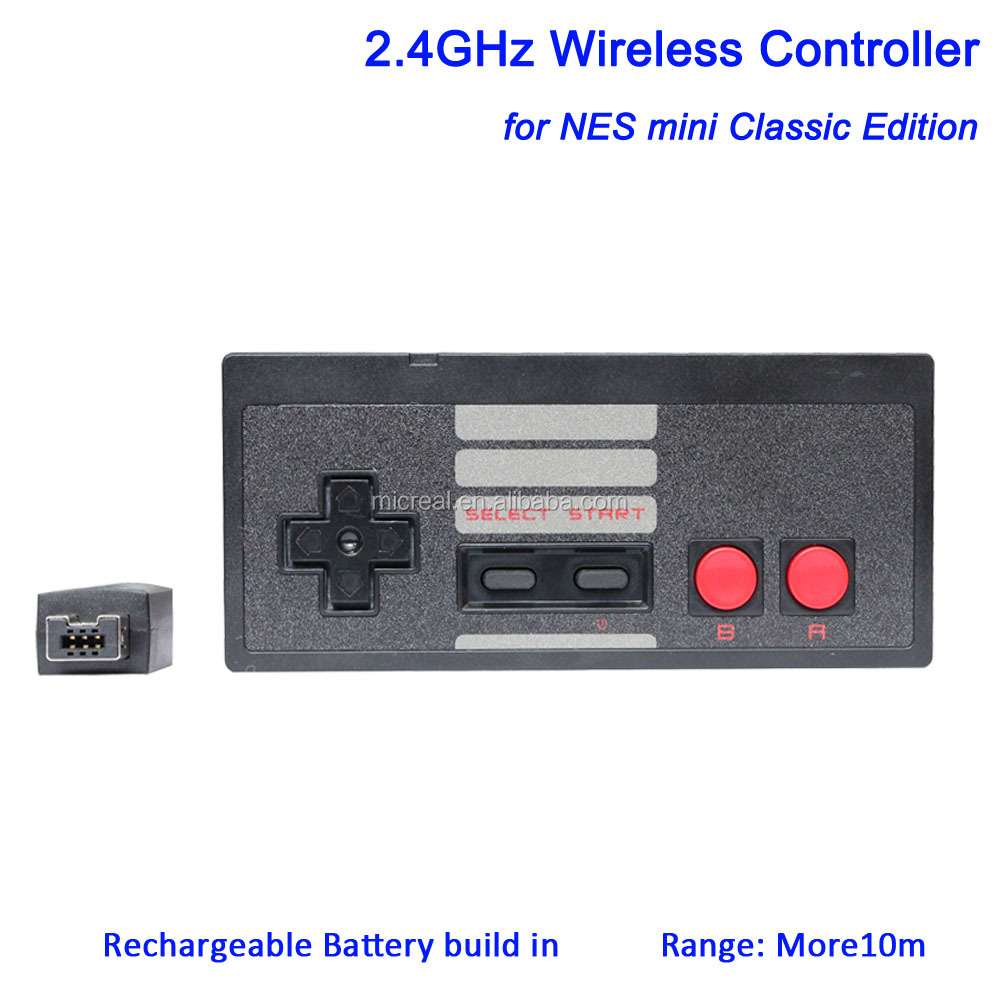 Extra mini classic edition gray and black wireless <strong>controller</strong> for Nintendo entertainment system in stock