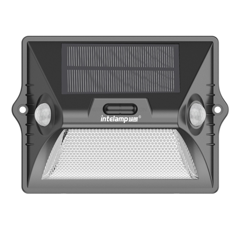 Super Bright 7 color changing IP65 waterproof outdoor solar led light wall with dual headed sensor
