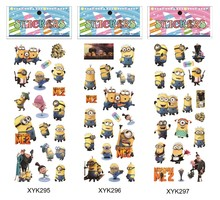 free shipping wholesale 1000pcs despicable me 2 various cartoon 3D stickers promotion toy bubble foam stickers