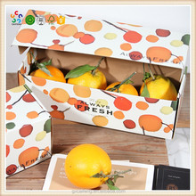 Corrugated paper brown fruit tray box hot sale cardboard friut box