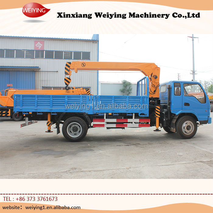 Hot sale 6.3ton Mini knuckle Pickup Crane Truck for Sale With ISO9001 Certification