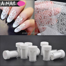 27 Designs White & Black Lace Style Nail Art Transfer New 3D DIY Nail Sticker/Decal In Box