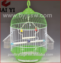 Beautiful And Colorful Plastic / Stainless Steel Round Bird Cage For Sale