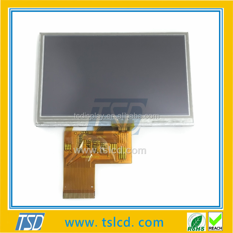 4.3 inch TFT 12 o'clock viewing angle LCD module with 40 PIN RGB interface