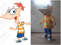 customized phineas mascot costumes