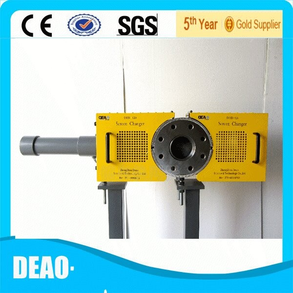 Screen changer for Pipe making