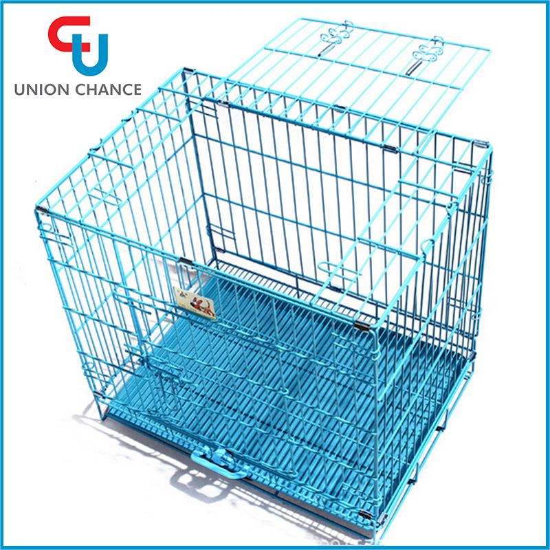 Foldable Wire Pet Cage Durable Pet Carrier Wire Mesh Cat Bird Cages