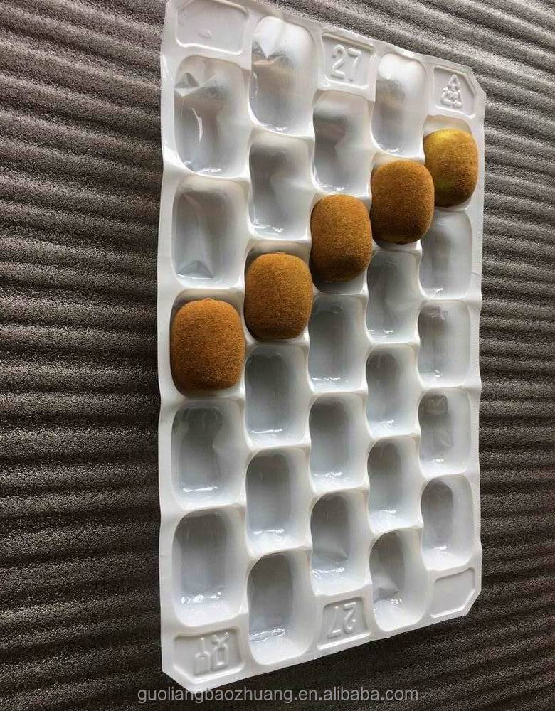 Vacuum Formed Blister Packaging Disposable Plastic Kiwi Fruit Tray