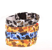 Adjustable Camouflage LED Light Pet Safety Neck Collar for Dog Cat Visibility & Safety