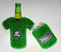 Turf Grass Candom Can Stubby Holder Cooler