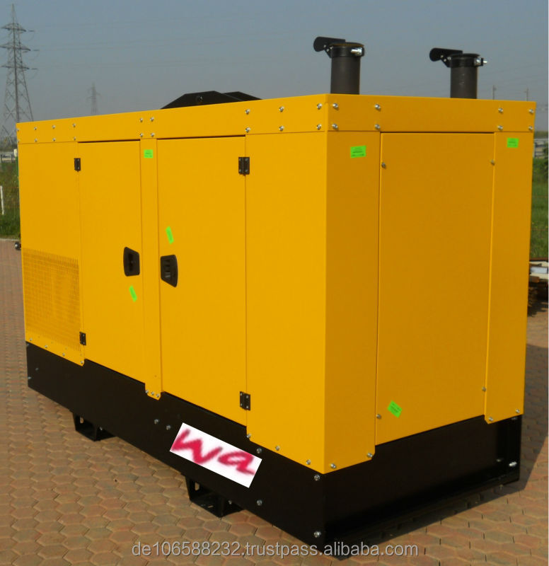 72/82 kVA Natural Gas / LPG Generator, new, with original GM engine, made in EU, sounproofed canopy