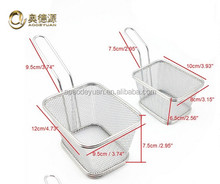 Eco-friendly stainless steel cooking french fries wire mesh /fryer basket/deep filter