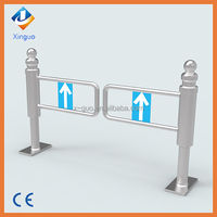 Hot sale high quality supermarket manual swing tube gate