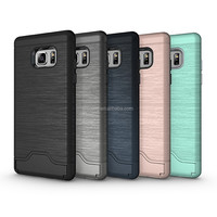 2in1 hybrid pc tpu phone back cover,shockproof with card holder Armour plastic case for Samsung Galaxy Note7