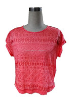 35% Cotton 65% Polyester burn out fabric T-shirts,blouse,ladies top