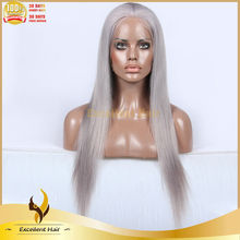 Qingdao Excellent Hair Grey human hair weave natural looking grey color human hair wig