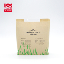 Food Grade Standup Bread Paper Bag With Clear Window For Toast Packing