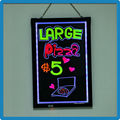 90 kinds flashing modes li-battery inside acrylic neon led writing menu display board for advertising